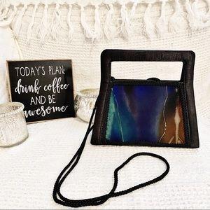 NEW✨Vintage Abstract Square Handle Black Mini Bag
